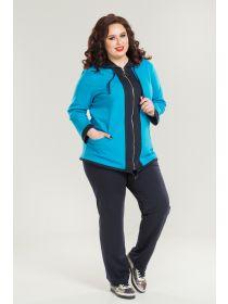 3312b85a286 Летние женские костюмы больших размеров в интернет-магазине одежды ...
